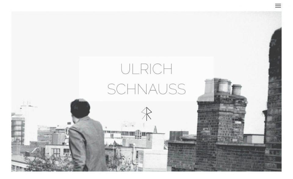 Ulrich SchnaussのWEBデザイン