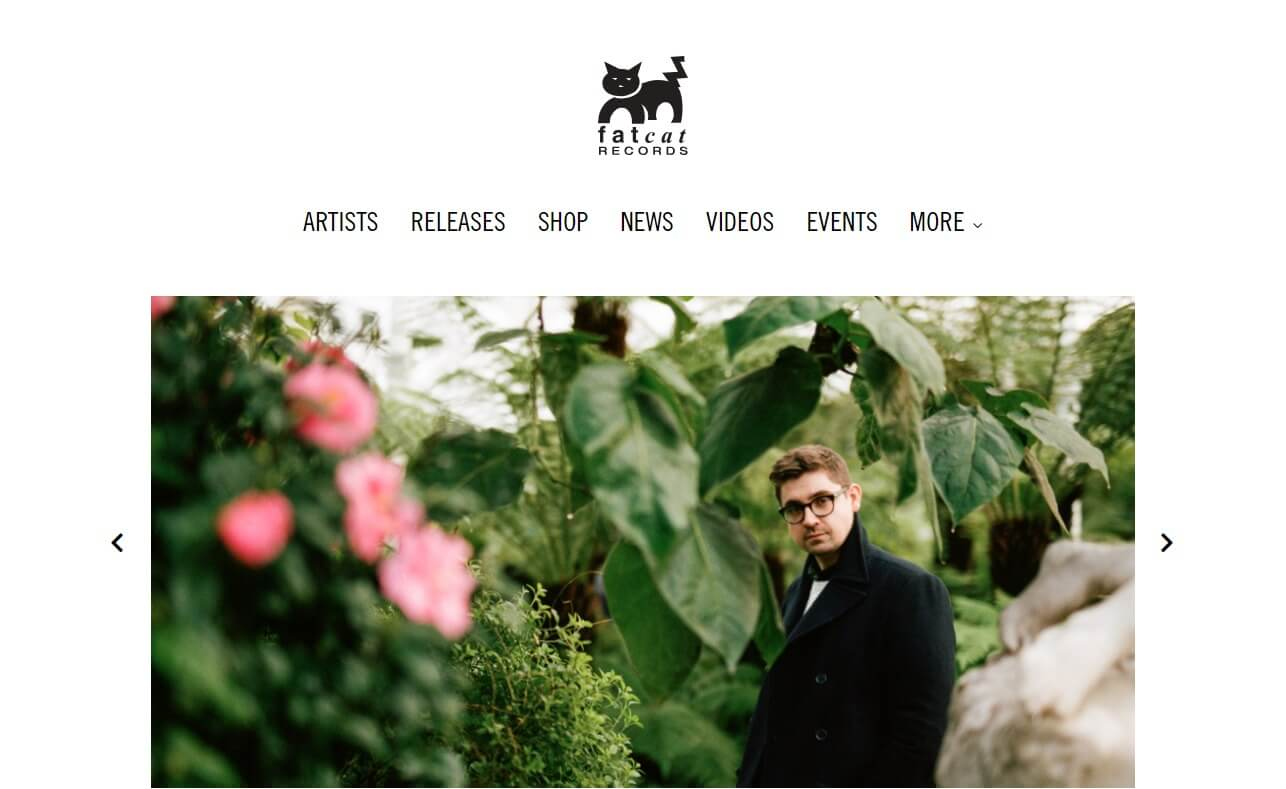 Fatcat RecordsのWEBデザイン