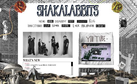 SHAKALABBITS OFFICIAL WEB SITEのWEBデザイン