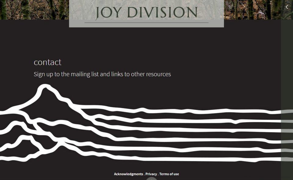 Joy DivisionのWEBデザイン