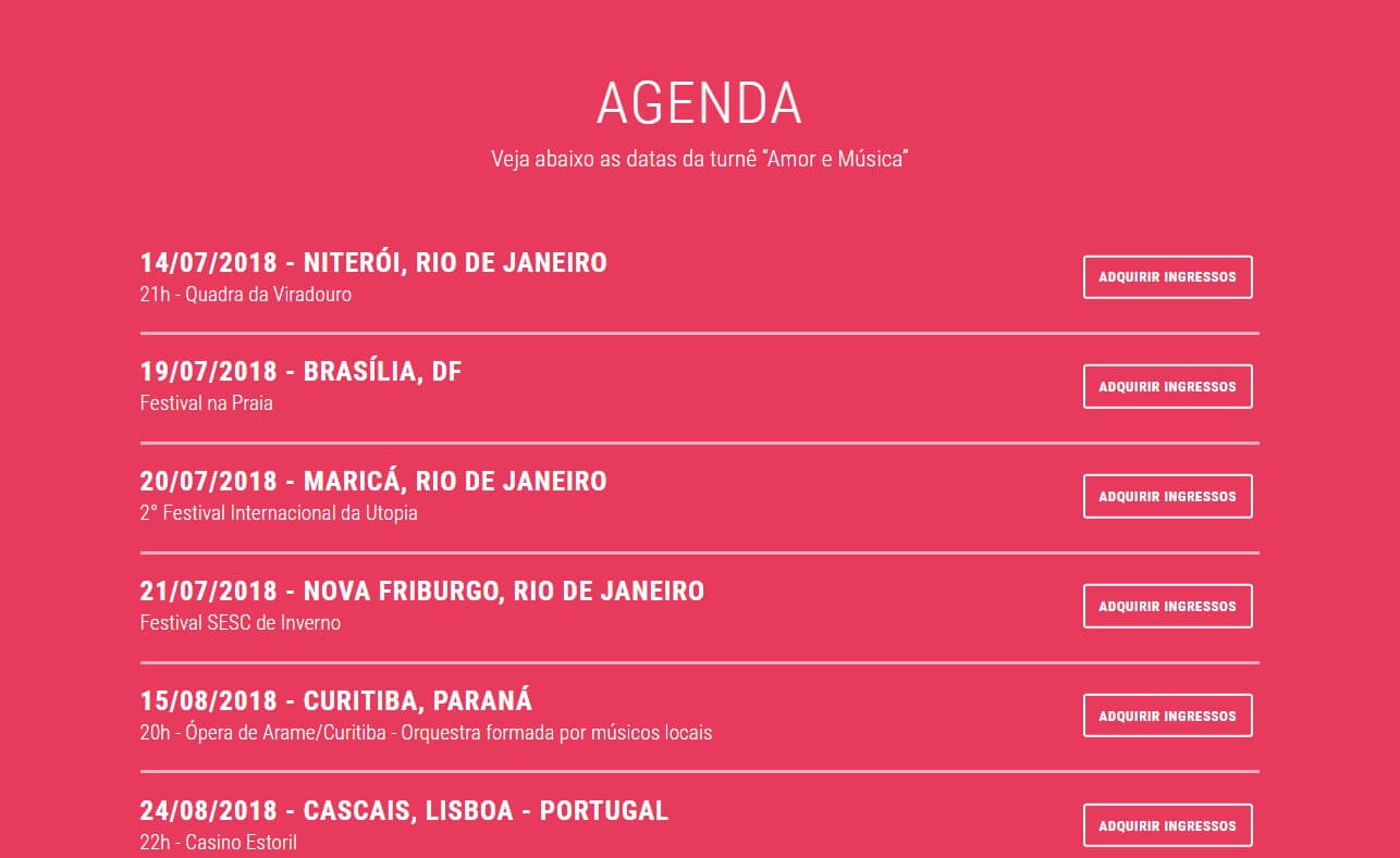 Maria Rita – Novo Álbum – Amor e MúsicaのWEBデザイン