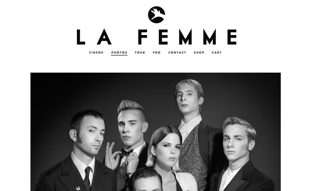La FemmeのWEBデザイン