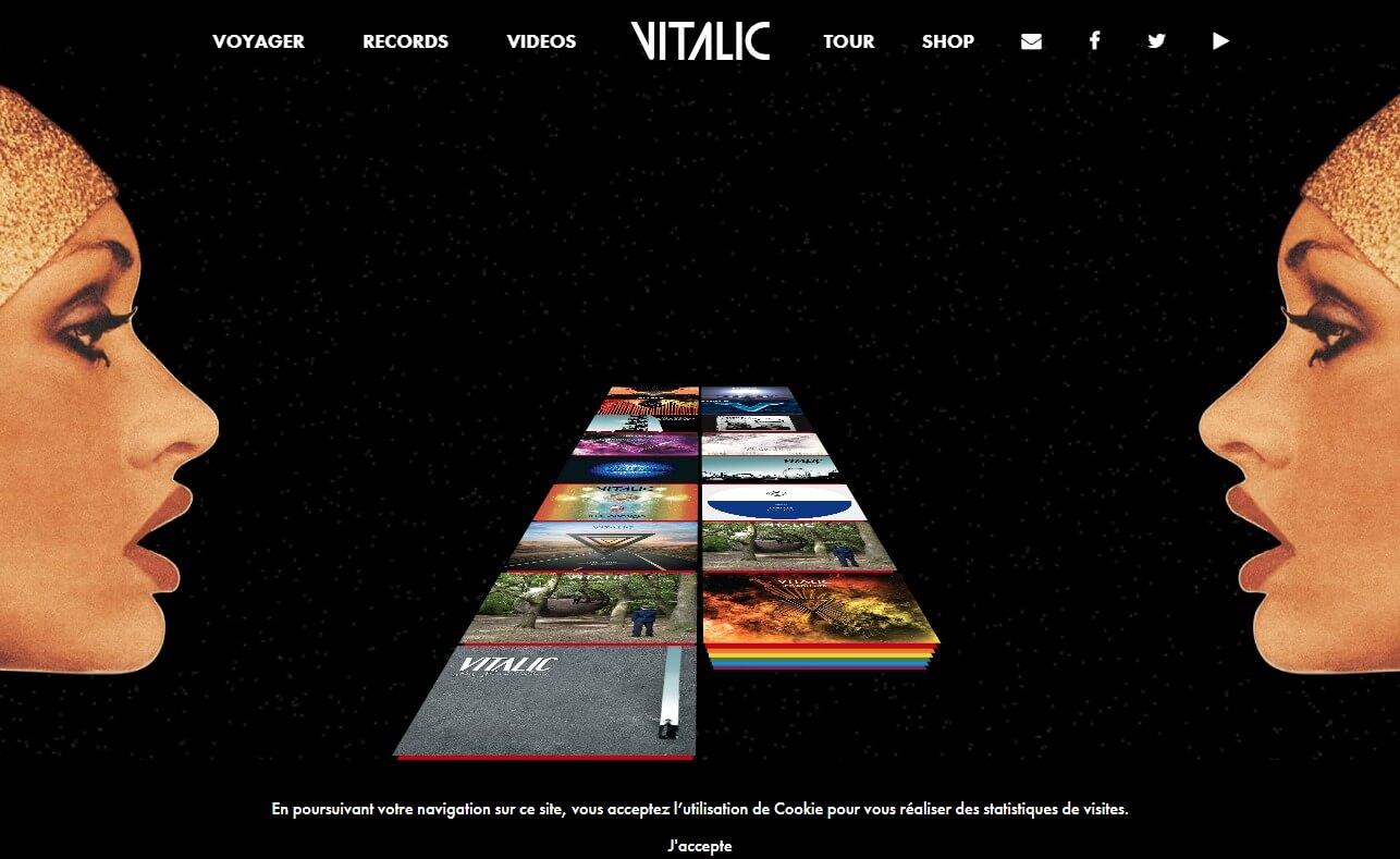 VITALIC – Voyager, new album available.のWEBデザイン