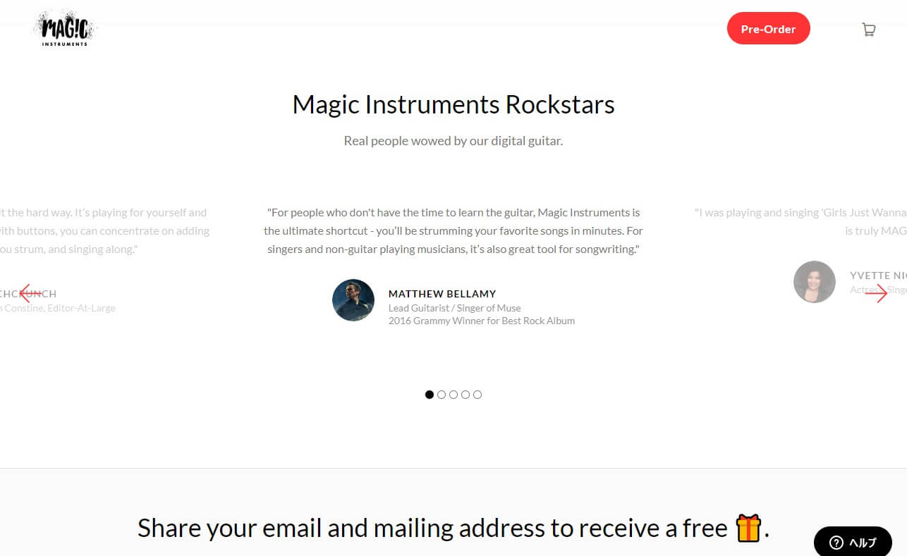 Magic Instruments | Magic InstrumentsのWEBデザイン