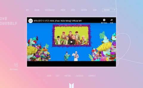 BTS Bighit – LOVE YOUR SELF 結 SelfのWEBデザイン