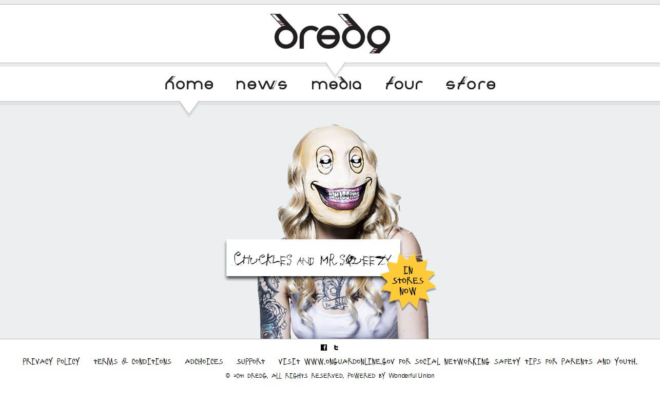dredg – Official SiteのWEBデザイン