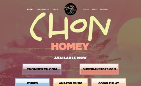 "Chon – ""HOMEY"" OUT JUNE 16のWEBデザイン"