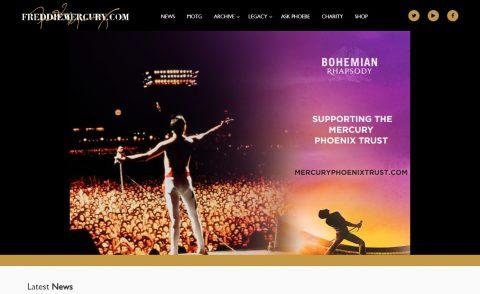 Freddie MercuryのWEBデザイン