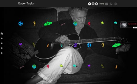 Roger Taylor WebsiteのWEBデザイン