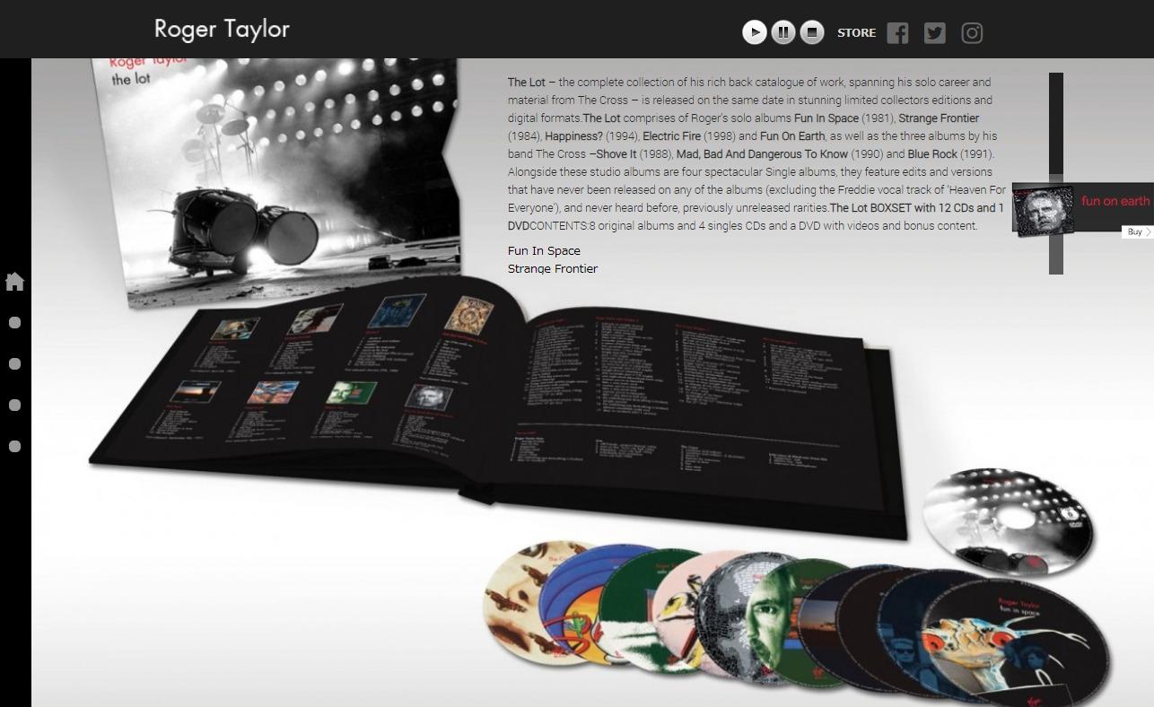 Roger Taylor WebsiteのWEBデザイン