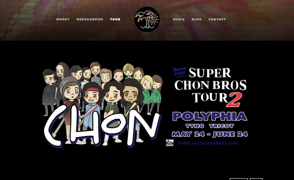 """Chon – """"HOMEY"""" OUT JUNE 16のWEBデザイン"""