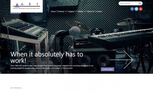 ART Pro AudioのWEBデザイン