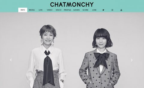 CHATMONCHY チャットモンチー Official SiteのWEBデザイン