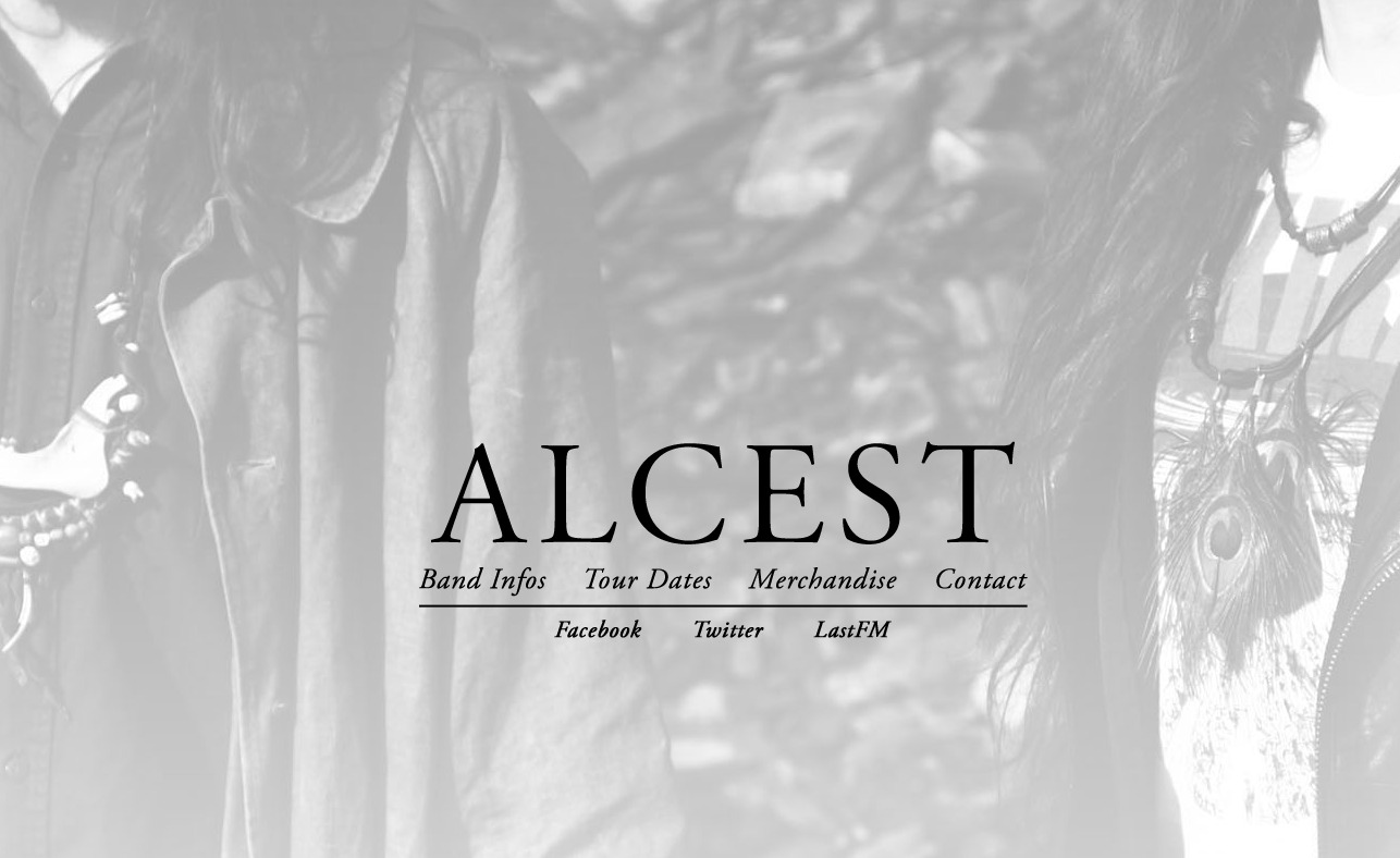 ALCEST – official websiteのWEBデザイン