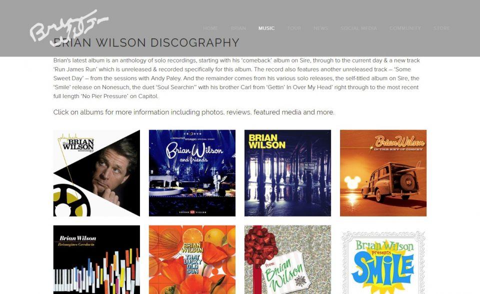Brian WilsonのWEBデザイン