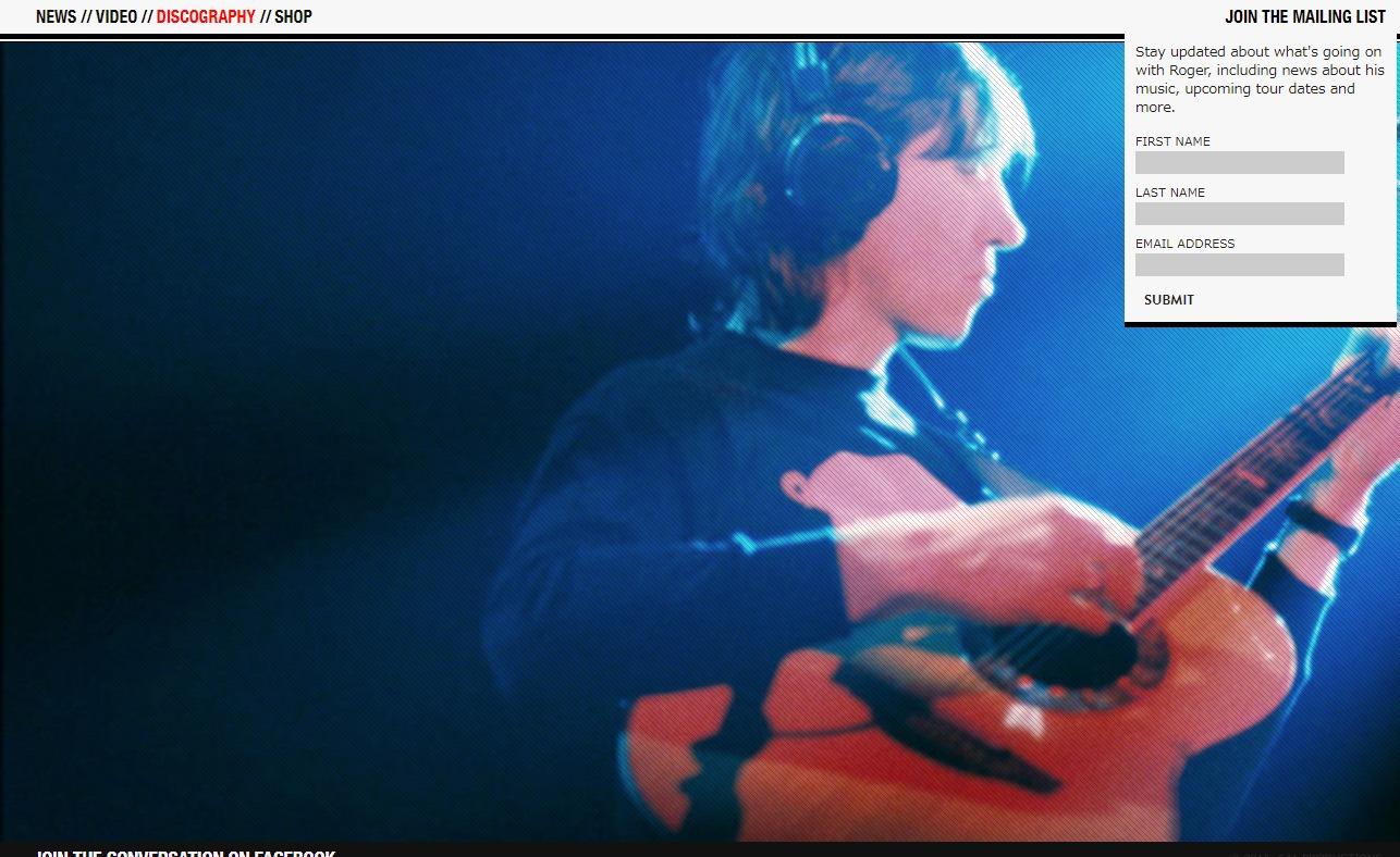 Roger WatersのWEBデザイン
