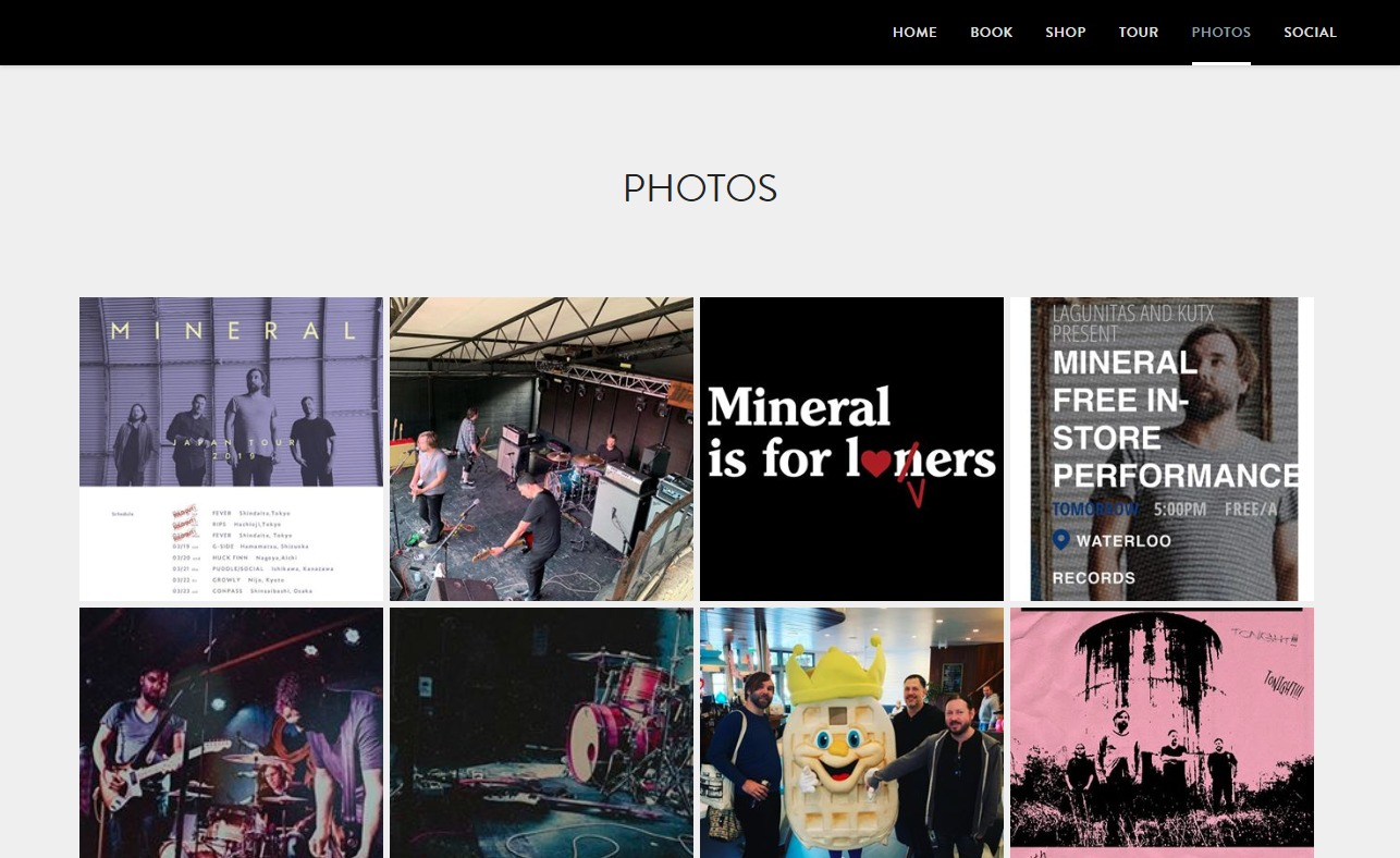 Mineral at 25のWEBデザイン