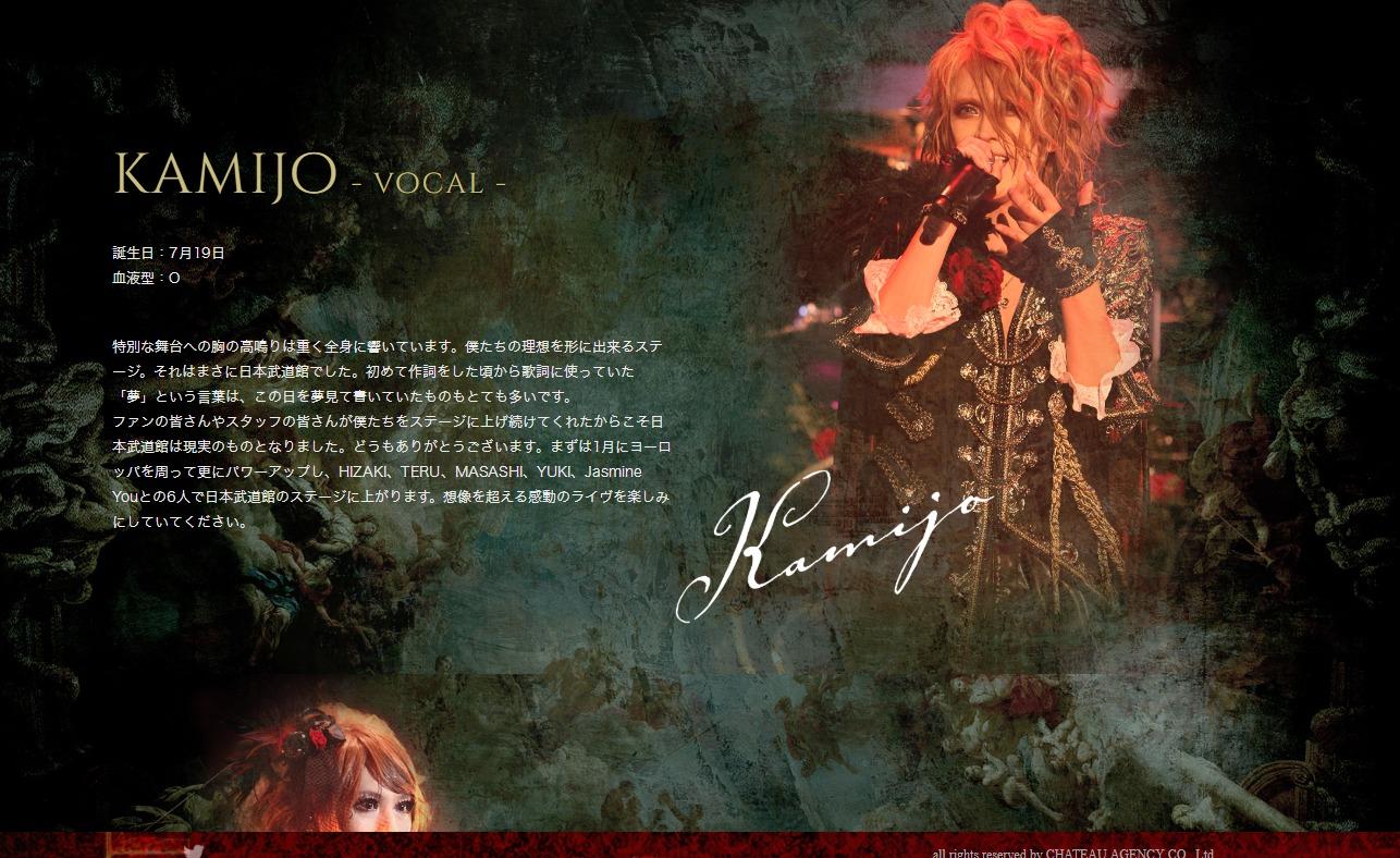 Versailles 日本武道館特設サイト   Versailles Official SiteのWEBデザイン