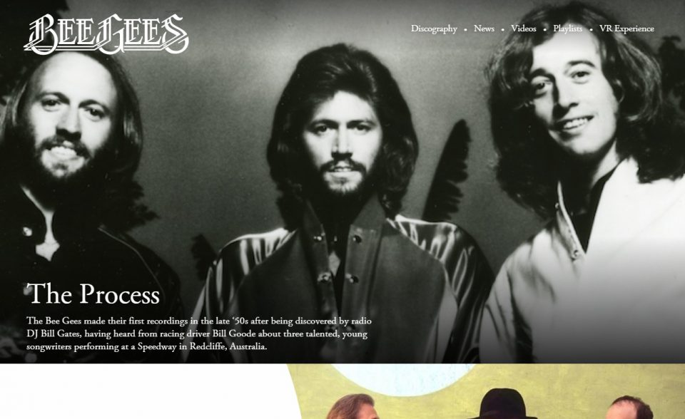 BeeGees.com The Official Website of the Bee Gees | Bee GeesのWEBデザイン