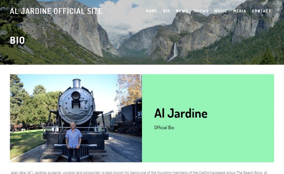AL JARDINE OFFICIAL SITEのWEBデザイン