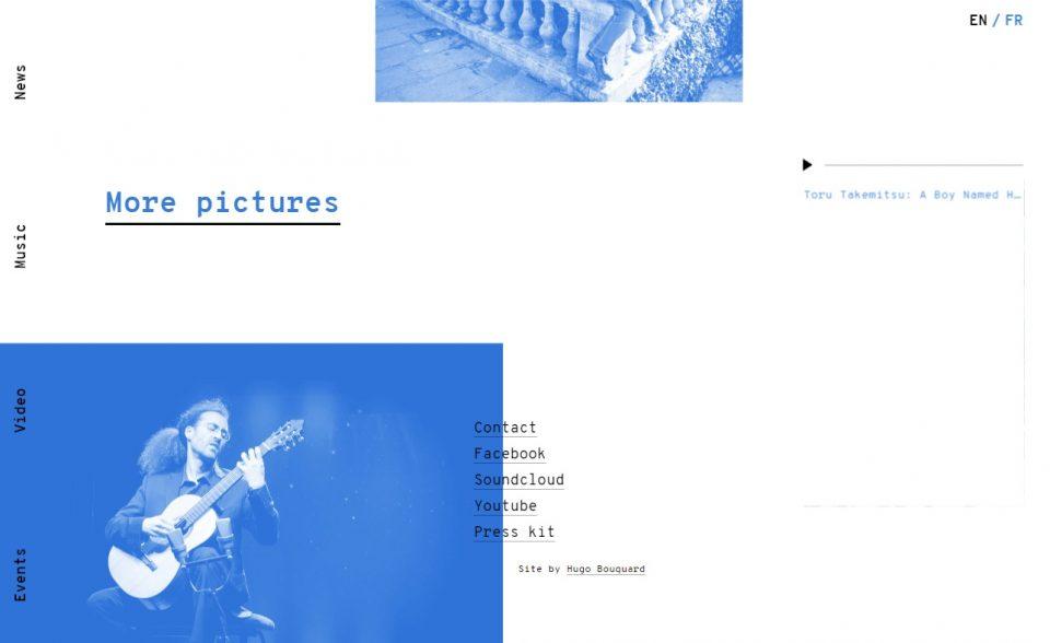 Rémi Jousselme — Classical & Contemporary guitarのWEBデザイン