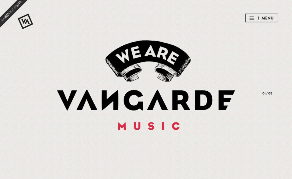 We are Vangarde | Vangarde Music LabelのWEBデザイン