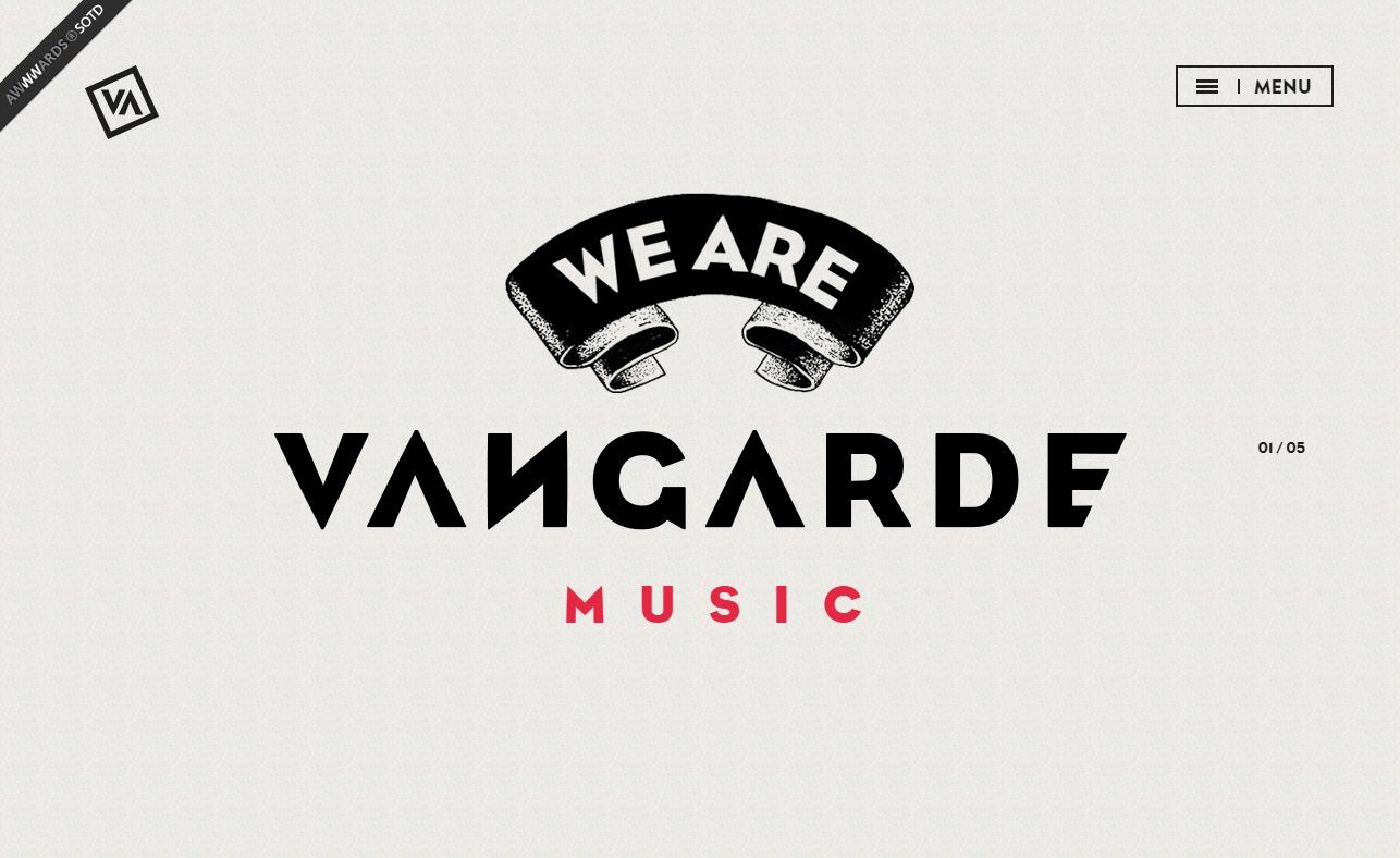 We are Vangarde | Vangarde Music LabelのWEBデザイン