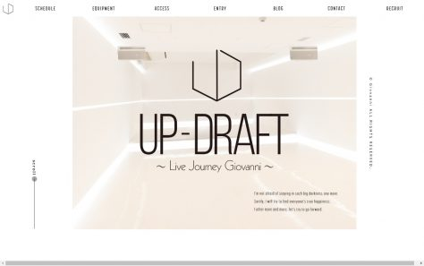 UP-DRAFT 〜Live Journey Giovanni〜のWEBデザイン