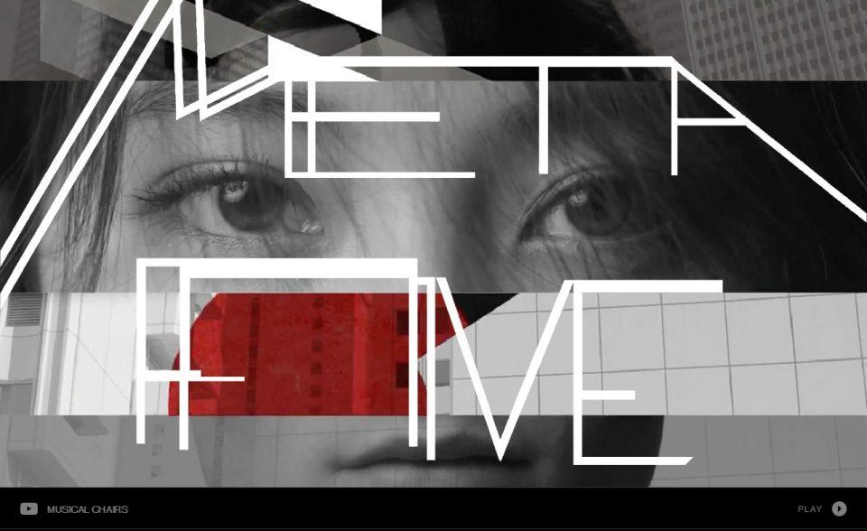 METAFIVE(高橋幸宏 × 小山田圭吾 × 砂原良徳 × TOWA TEI × ゴンドウトモヒコ × LEO今井)スペシャルサイトのWEBデザイン