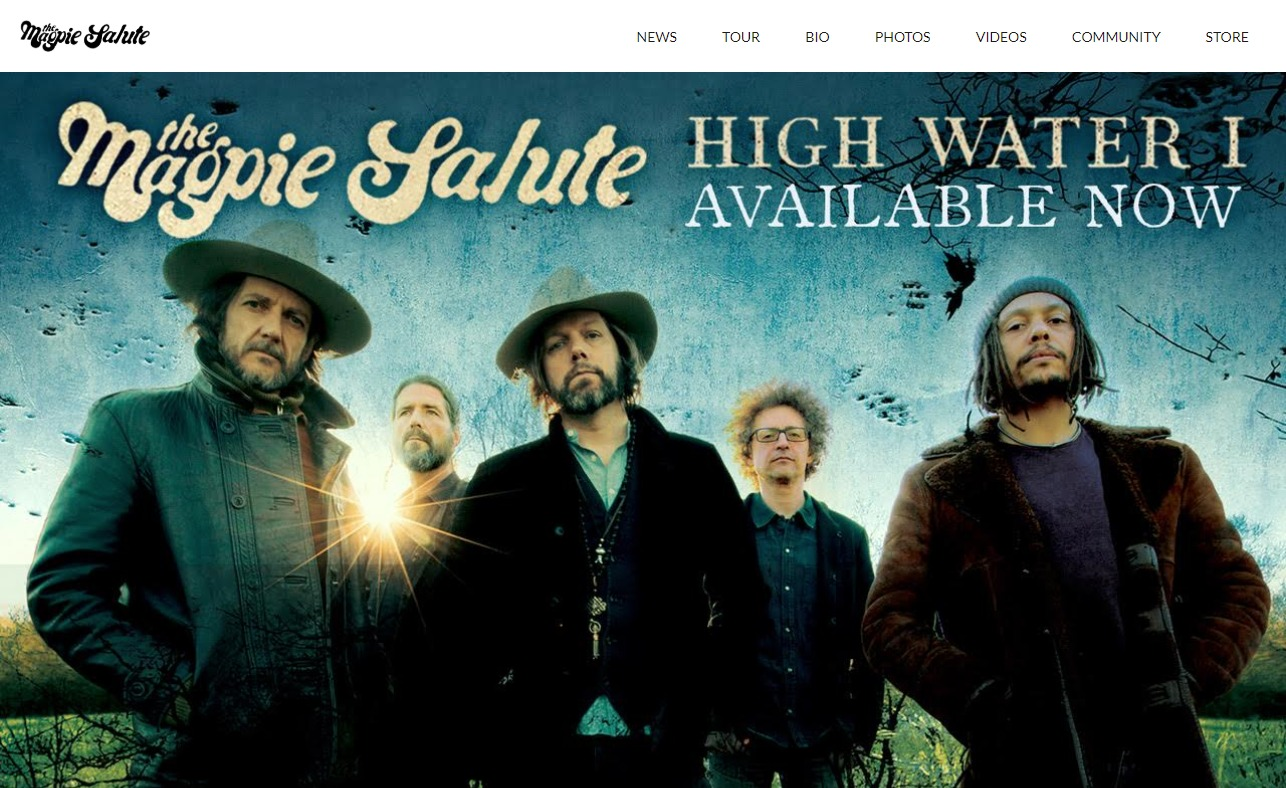 Home – The Magpie SaluteのWEBデザイン