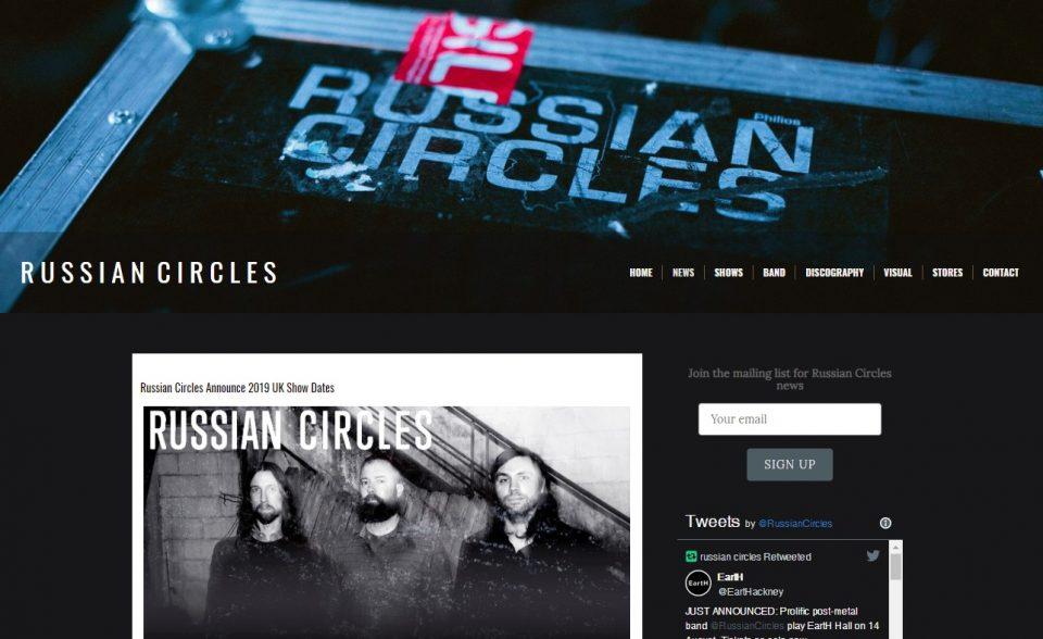 Russian CirclesのWEBデザイン
