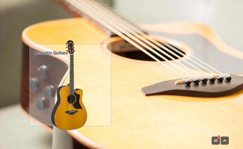 Guitars & Basses – Musical Instruments – Products – Yamaha – UK and IrelandのWEBデザイン