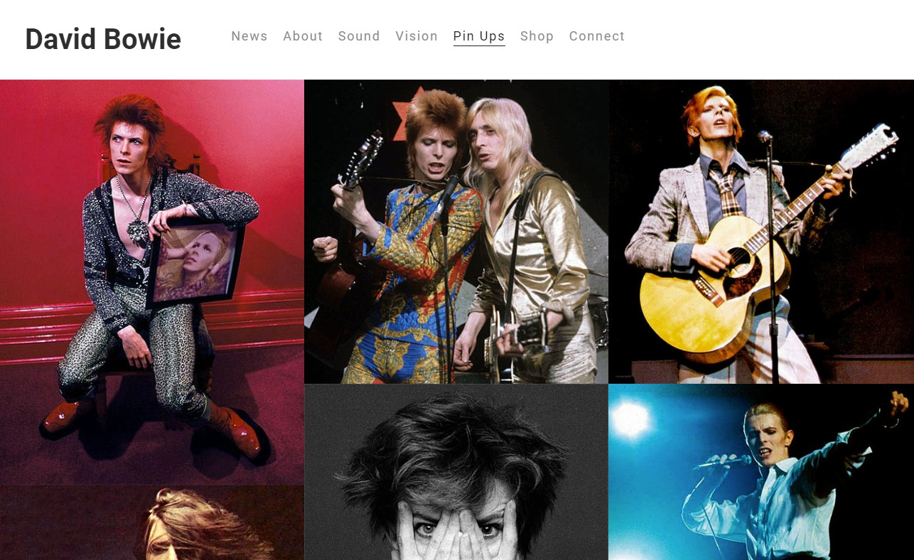 Home — David BowieのWEBデザイン