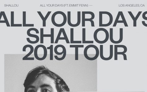 Shallou — All Your Days — 2019 TourのWEBデザイン