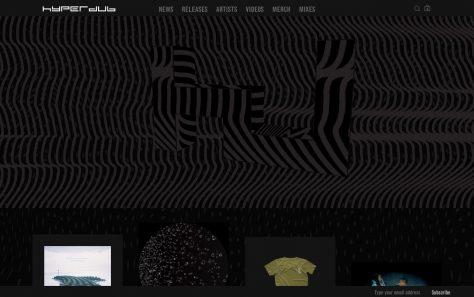 HyperdubのWEBデザイン
