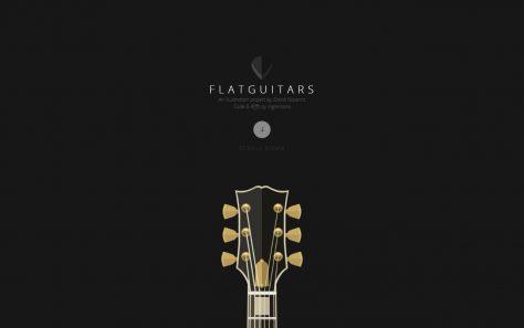 FlatGuitarsのWEBデザイン