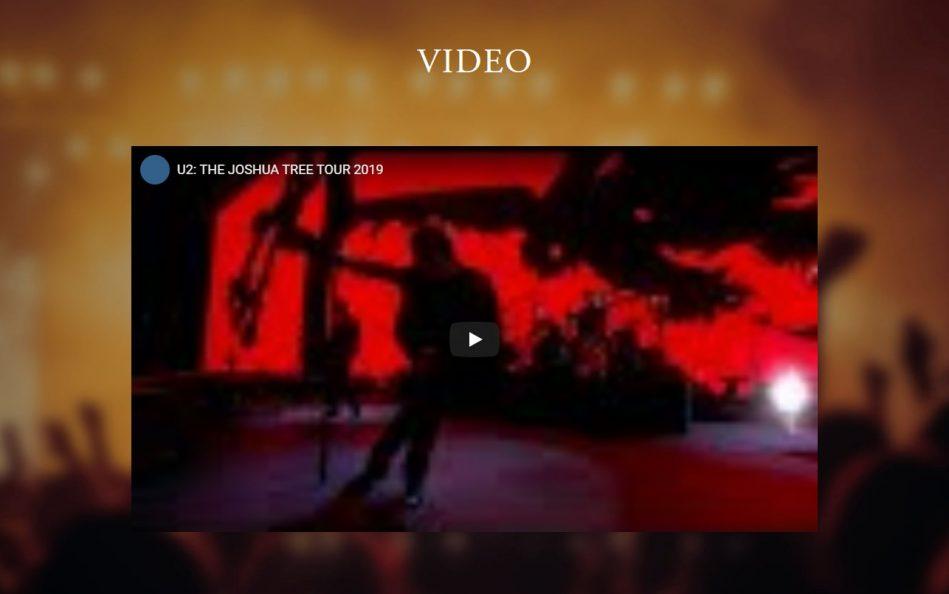 公演情報|U2、13年ぶり奇跡の来日公演決定!のWEBデザイン