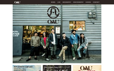 OAU(OVERGROUND ACOUSTIC UNDERGROUND)のWEBデザイン