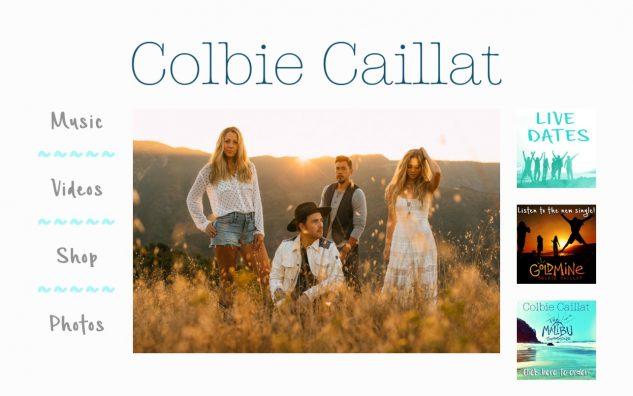 Colbie CaillatのWEBデザイン