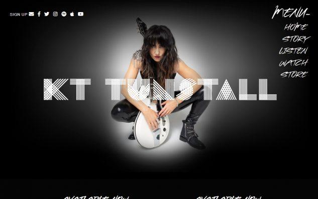 KT Tunstall – OfficialのWEBデザイン