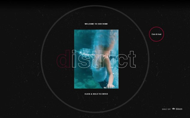 District Malta – disturb the comfortableのWEBデザイン