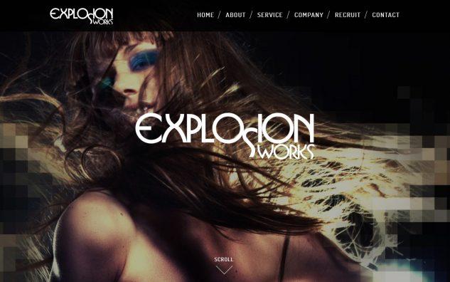 EXPLOSION WORKS / エクスプロージョンワークスのWEBデザイン