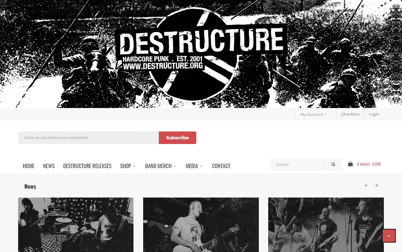 Destructure records, DIY punk-hardcore record label and distribution from FranceのWEBデザイン