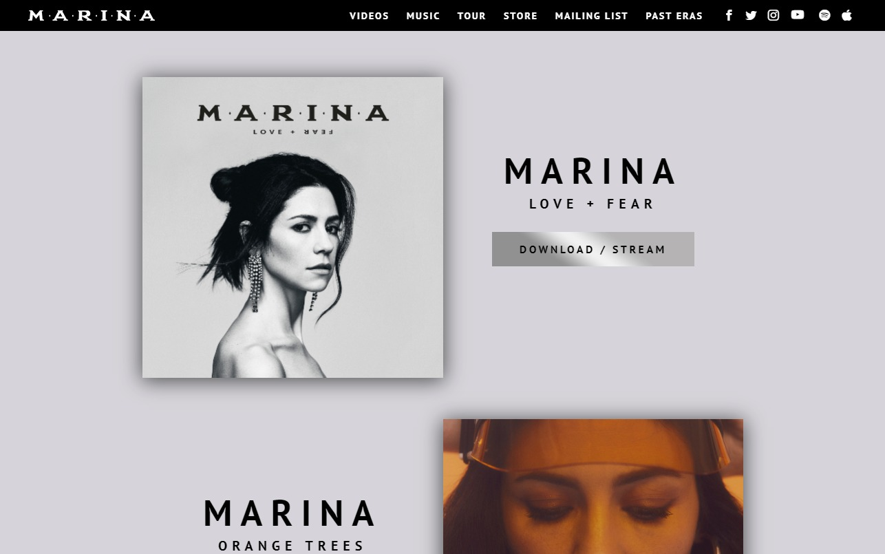 MARINA SplashのWEBデザイン