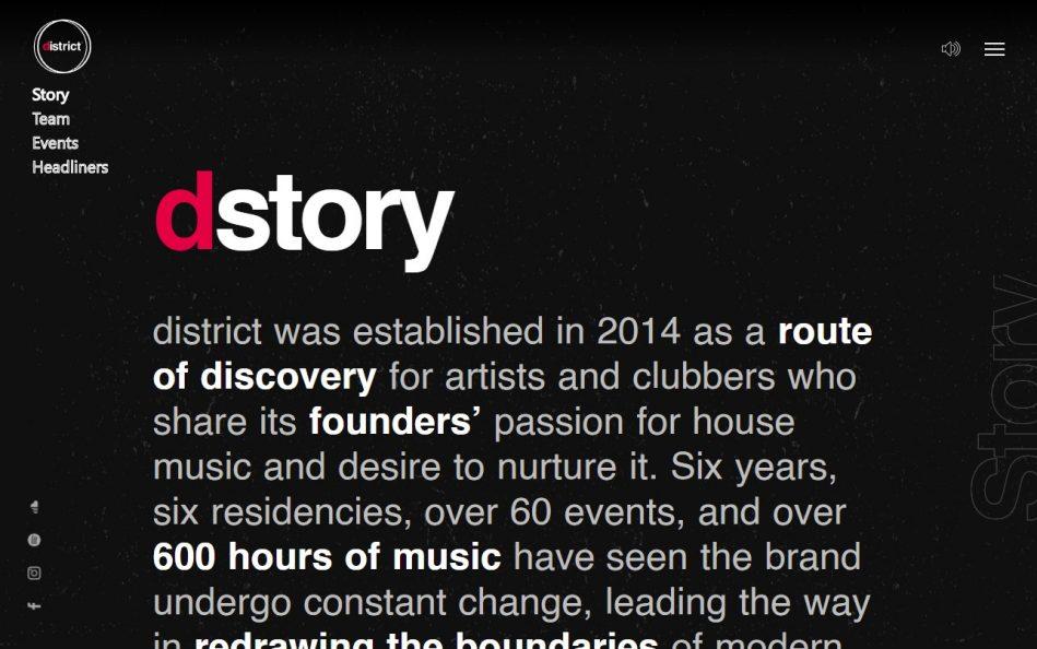 District Malta – disturb the comfortableのWEBデザイン