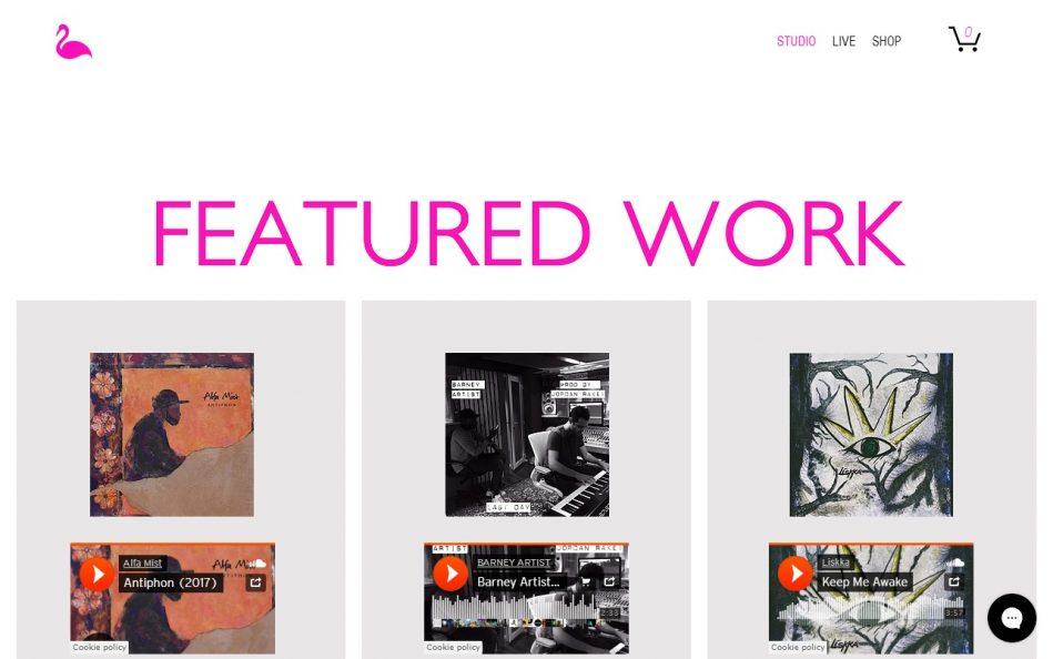 Pink Bird Recording Co. | East LondonのWEBデザイン