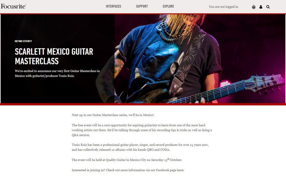 Homepage | FocusriteのWEBデザイン