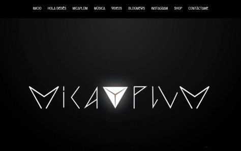Micaplum (Sitio Oficial)のWEBデザイン