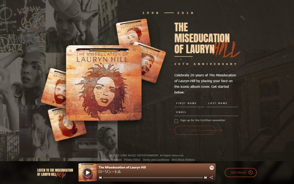 The Miseducation of Lauryn HillのWEBデザイン
