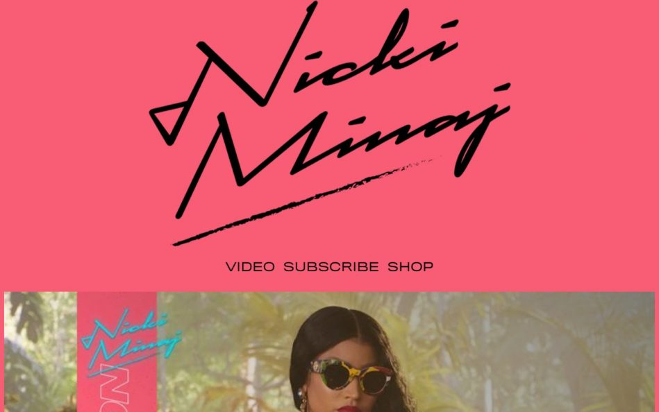 Nicki Minaj | HomeのWEBデザイン